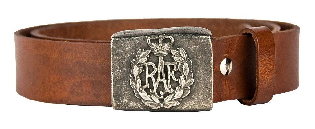 Ceinture en cuir Royal Air Force Made in USA COCKPIT USA Ex AVIREX