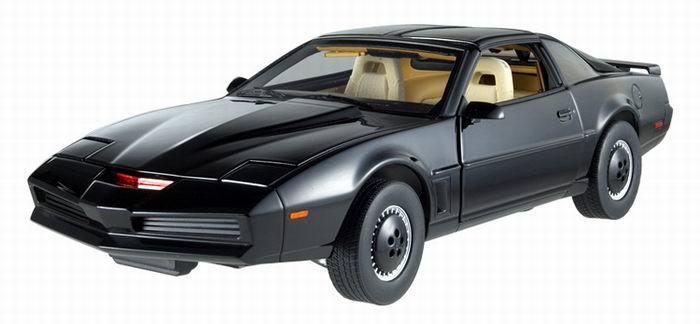 Véhicule Pontiac KITT de la série TV K2000 au 1/18