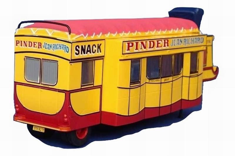 Miniature Caravane Bar Crêperie Snack CIRQUE PINDER JEAN RICHARD 1/43