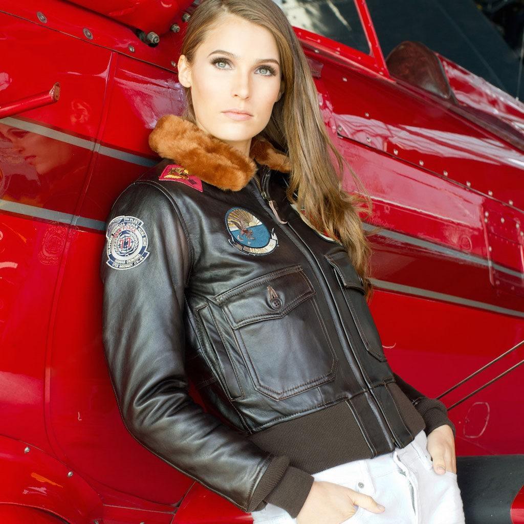 veste Avirex aviateur Top Gun NAVY G1 Femme AVIREX