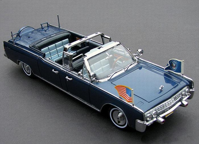 Limousine Lincoln X 100 de 1961 Voiture Présidentielle JFK Kennedy 1/24