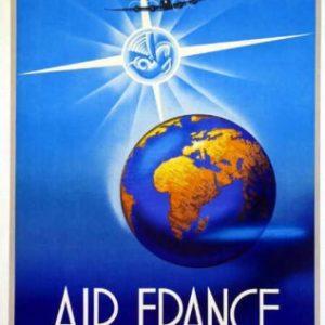Air France Rayonne sur 20le Monde Maurus 1948