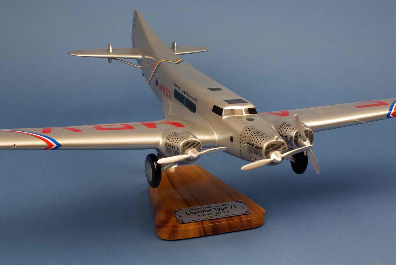 Maquette avion Couzinet70 ARC en ciel Jean Mermoz