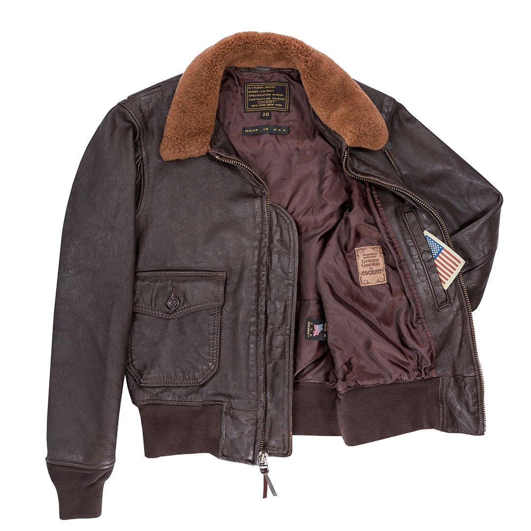 Veste Aviateur en cuir G-1 Classic WWII Vintage COCKPIT USA AVIREX