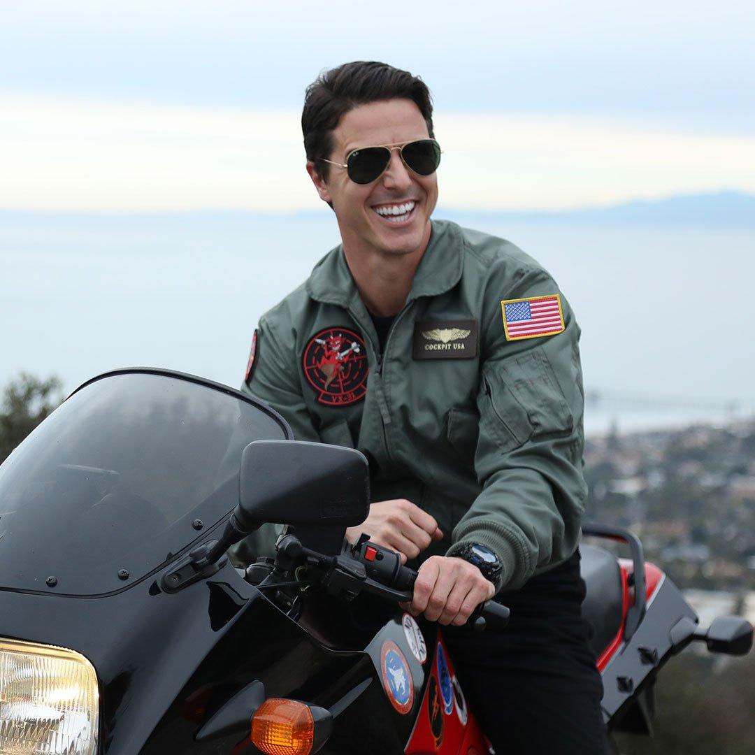 Blouson aviateur Movie Hero CWU36P Top Gun Tom Cruise COCKPIT USA AVIREX