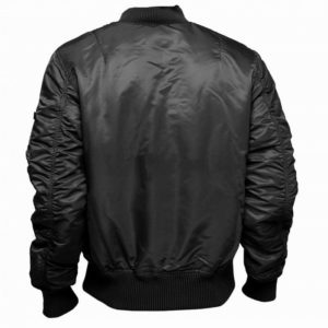 ma 1 flight jacket black back