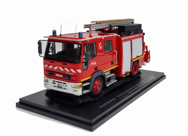 Camion IVECO Eurocargo 130E24 Sides FPTMO des Sapeurs-Pompiers du SDIS 28 1/43 ALERTE