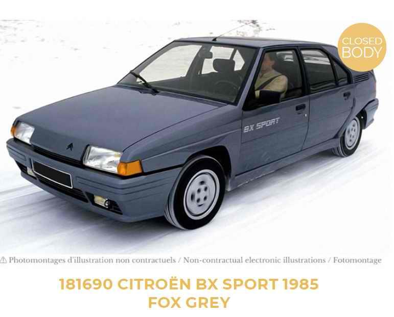 voiture miniature Citroën BX Sport gris renard 1/18 Norev