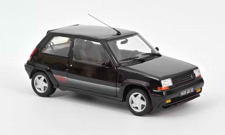 Miniature Voiture Super5 RENAULT Supercinq GT Turbo Noir 1989 1/18 Norev