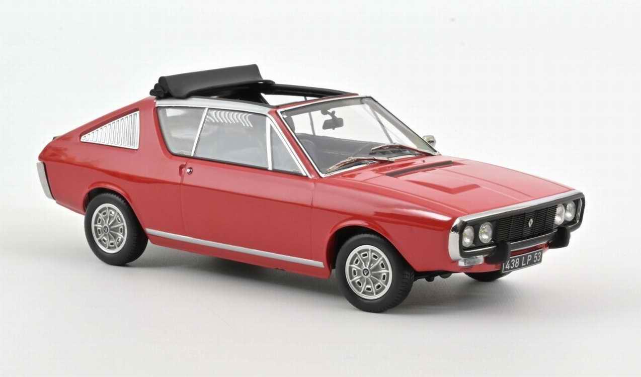 Voiture R17 miniature RENAULT 17 GORDINI Découvrable 1975 Rouge Norev 1/18