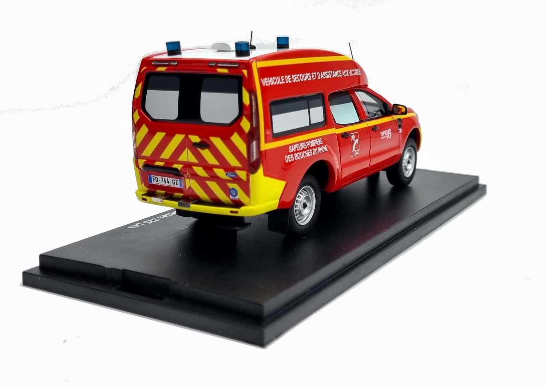 Voiture de Collection FORDRANGER Sapeurs Pompiers VSAV SDIS 13 Bouches du Rhône 1/43 Alarme