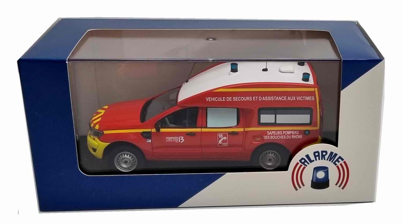 Voiture de Collection FORDRANGERVSAV Sapeurs Pompiers VSAV SDIS 13 Bouches du Rhône 1/43 Alarme