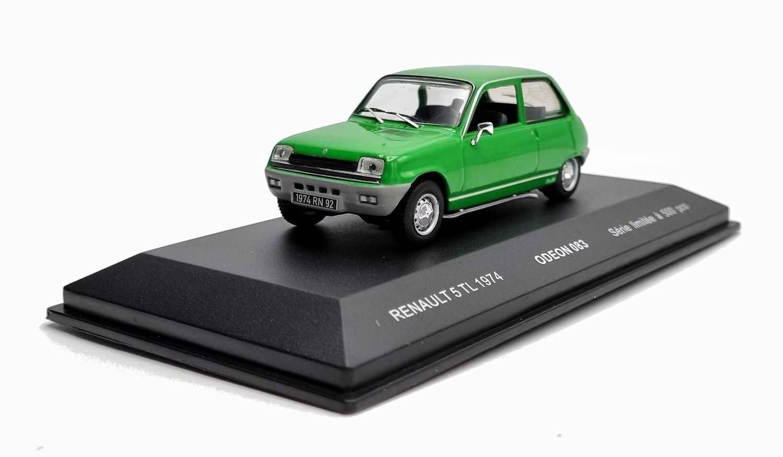 Voiture R5TL Miniature Renault 5 TL Vert 1/43